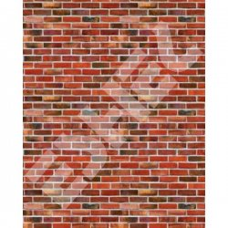 Eshel - Eshel Kırmızı Tuğla Desenli Karton Duvar 1/50 Paket İçi:3 (1)