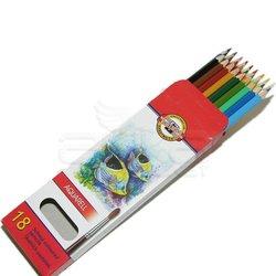 Koh-i-Noor - Koh-i-Noor Aquarell Pencil Sulu Boya Kalemi Balık 18li 3717 (1)