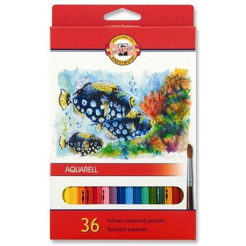 Koh-i-Noor Aquarell Pencil Sulu Boya Kalemi Balık 36lı 3719