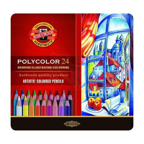 Koh-i-Noor Polycolor Kuru Boya Kalemi 24lü Set