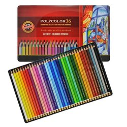 Koh-i-Noor - Koh-i-Noor Polycolor Kuru Boya Kalemi 36lı Set