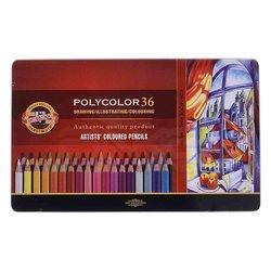 Koh-i-Noor - Koh-i-Noor Polycolor Kuru Boya Kalemi 36lı Set (1)