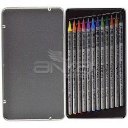 Koh-i-Noor Progresso Aquarell Woodless Coloured Pencil Set 12li - Thumbnail