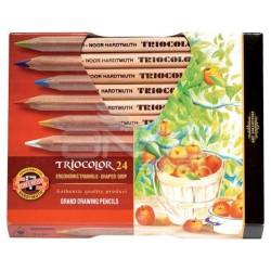 Koh-i-Noor - Koh-i-Noor Tricolor Grand Drawing Pencils 24lü Kuru Boya Seti (3154)