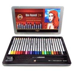 Koh-i-Noor - Koh-i-Noor Wax Aquarell Sulandırılabilir Pastel Boya Seti 24 Renk (1)