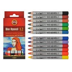 Koh-i-Noor - Koh-i-Noor Wax Aquarell Sulandırılabilir Pastel Boya Seti 12 Renk
