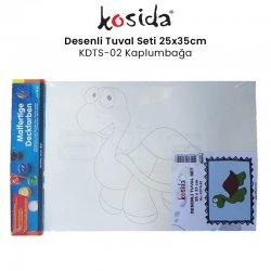 Kosida - Kosida Desenli Tuval Seti 25x35cm Kaplumbağa No:KDTS-02