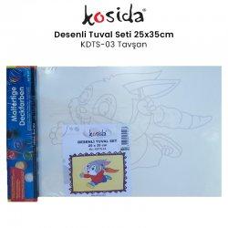 Kosida - Kosida Desenli Tuval Seti 25x35cm Tavşan No:KDTS-03