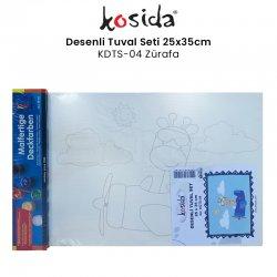 Kosida - Kosida Desenli Tuval Seti 25x35cm Zürafa No:KDTS-04