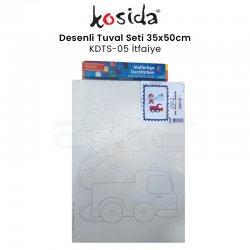 Kosida - Kosida Desenli Tuval Seti 35x50cm İtfaiye No:KDTS-05
