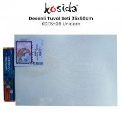 Kosida - Kosida Desenli Tuval Seti 35x50cm Unicorn No:KDTS-06
