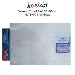 Kosida - Kosida Desenli Tuval Seti 35x50cm Flamingo No:KDTS-07