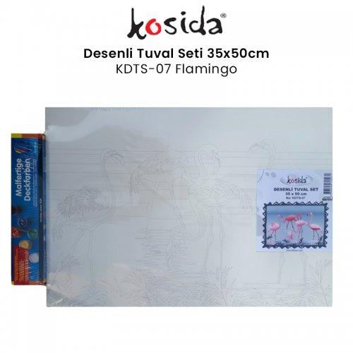 Kosida Desenli Tuval Seti 35x50cm Flamingo No:KDTS-07