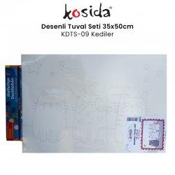 Kosida - Kosida Desenli Tuval Seti 35x50cm Kediler No:KDTS-09