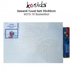 Kosida - Kosida Desenli Tuval Seti 35x50cm Basketbol No:KDTS-10