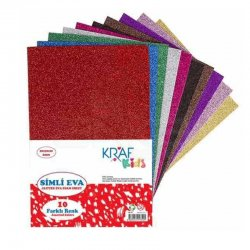 Kraf - Kraf Kids Eva 20x30cm 2mm Simli 10lu KK10