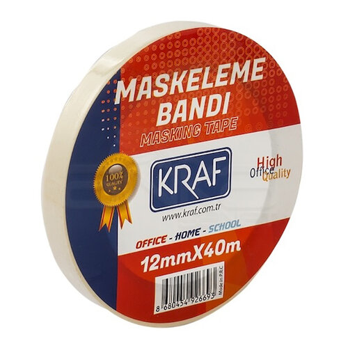Kraf Maskeleme Bandı 12mmx40mt