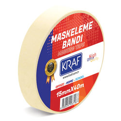 Kraf - Kraf Maskeleme Bandı 15mmx40mt