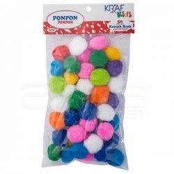 Kraf - Kraf Ponpon 3cm 50li KK90