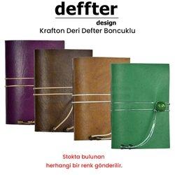 Krafton - Krafton Boncuklu Deri Defter
