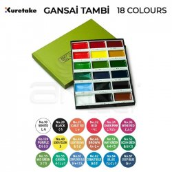 Zig - Kuretake Gansai Tambi Sulu Boya Seti 18 Renk (1)