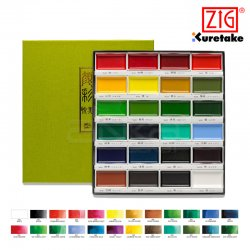 Zig - Kuretake Gansai Tambi Sulu Boya Seti 24 Renk