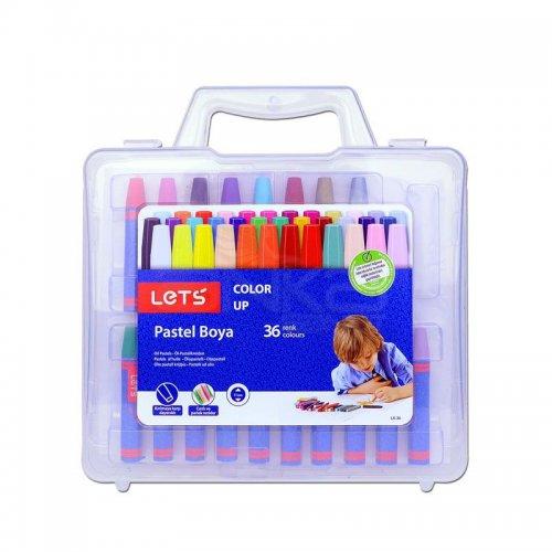 Lets 36 Renk Plastik Çantalı Pastel Boya