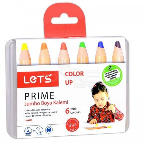 Lets Color Up Prime Jumbo Boya Kalemi 6lı L-4600