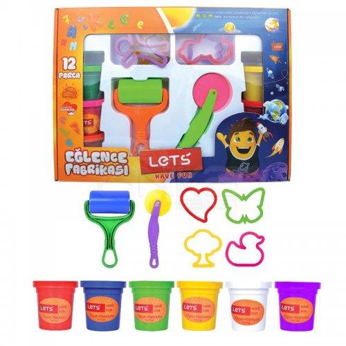 Lets Eğlence Fabrikası Oyun Hamuru Seti 12 Parça L-8480
