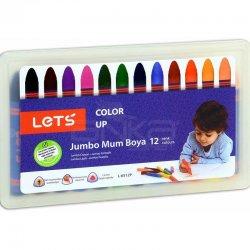 Lets - Lets Jumbo Mum Boya Plastik Kutu 12li L-6512P