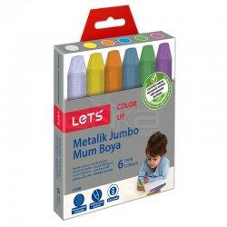 Lets - Lets Metalik Jumbo Mum Boya 6 Renk L-6506