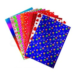 Lino Karadeniz - Lino Desenli Elişi Kağıdı Seti 10 Renk