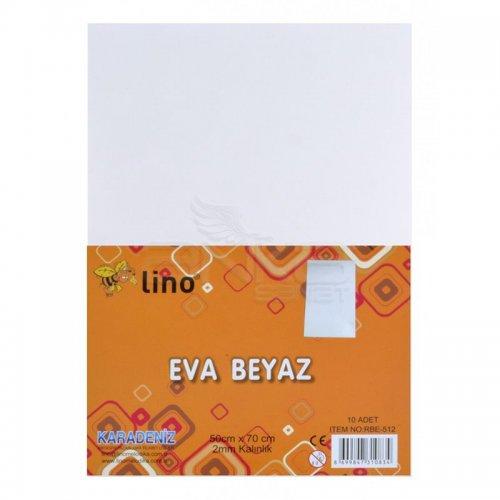 Lino Karadeniz Eva 50x70cm 2mm Beyaz 10lu RBE512