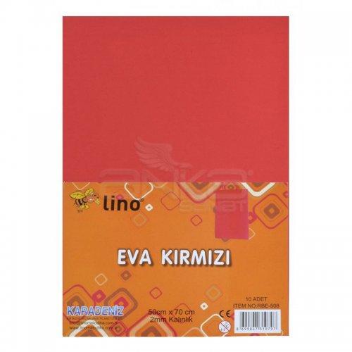 Lino Karadeniz Eva 50x70cm 2mm Kırmızı 10lu RBE508