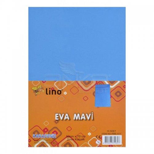 Lino Karadeniz Eva 50x70cm 2mm Mavi 10lu RBE510