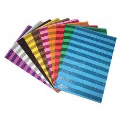 Lino Karadeniz - Lino Karadeniz Simli Çizgi Desenli Eva 20X30 cm 10 Renk 2801J-1