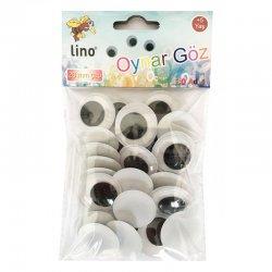 Lino Karadeniz - Lino Oynar Göz Siyah 30 Adet 28mm RBZ-028