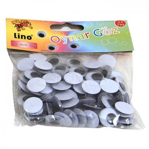 Lino Oynar Göz Siyah 50 Adet 15mm RBZ-016