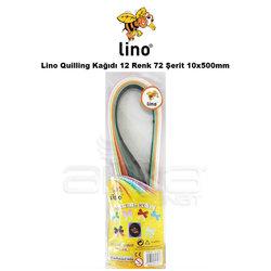 Lino Karadeniz - Lino Quilling Kağıdı 12 Renk 72 Şerit 10x500mm