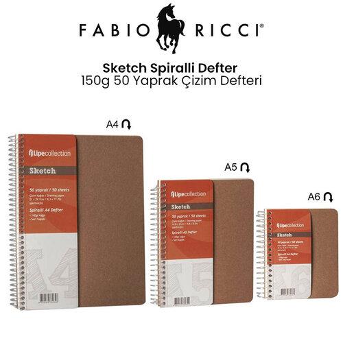 Fabio Ricci Sketch Spiralli Defter 150g 50 Yaprak Çizim Defteri
