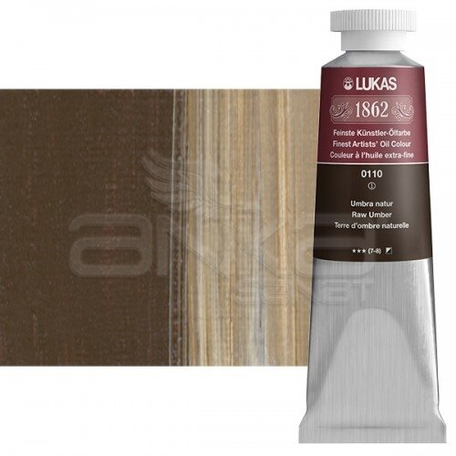 Lukas 1862 37ml Yağlı Boya Seri:1 No:0110 Ham Umbra Naturel - 0110 Ham Umbra Naturel
