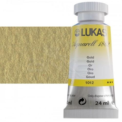 Lukas Aquarell 1862 Artist 24ml Sulu Boya 1012 Gold Seri 3 - 1012 Gold