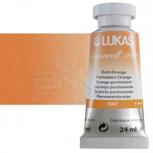 Lukas Aquarell 1862 Artist 24ml Sulu Boya 1047 Permanent Orange Seri 2 - 1047 Permanent Orange