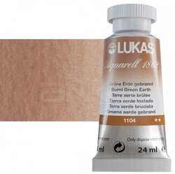 Lukas - Lukas Aquarell 1862 Artist 24ml Sulu Boya 1104 Burnt Green Earth Seri 2