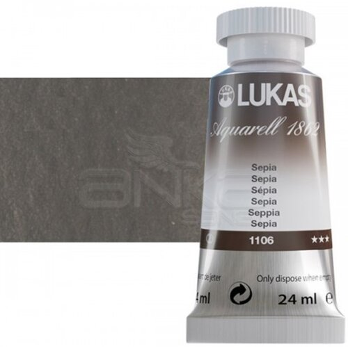 Lukas Aquarell 1862 Artist 24ml Sulu Boya 1106 Sepia Seri 2 - 1106 Sepia