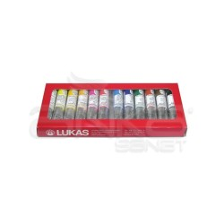 Lukas - Lukas Su Bazlı Linol Baskı Boyası Kutulu Takım 12li 20ml