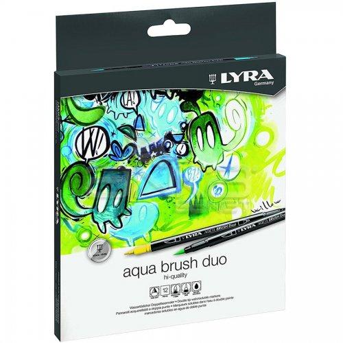 Lyra Aqua Brush Duo Fırça Uçlu Kalem 12li Set