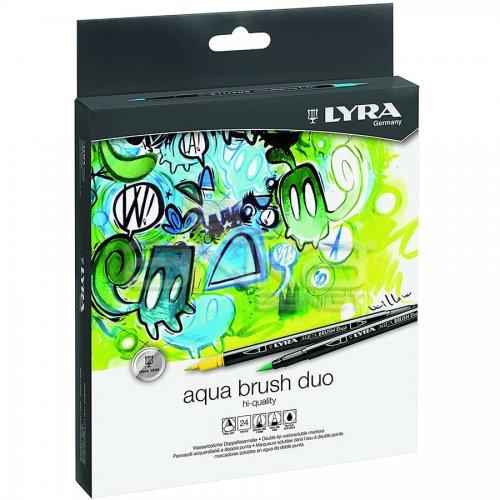Lyra Aqua Brush Duo Fırça Uçlu Kalem 24lü Set
