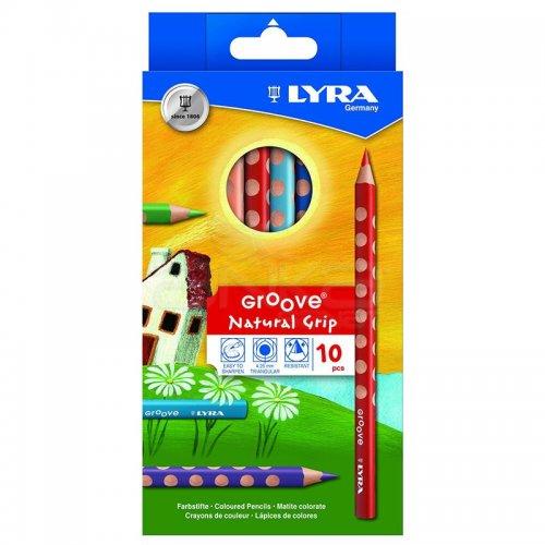 Lyra Groove Natural Grip 10lu Kuru Boya Seti L3811100