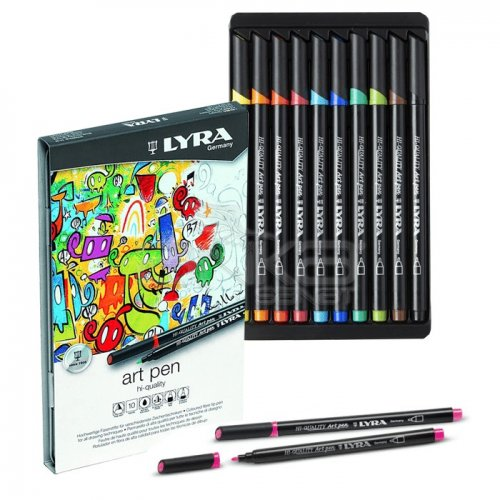 Lyra Hi-Quality Metal Art Pen 10lu Set